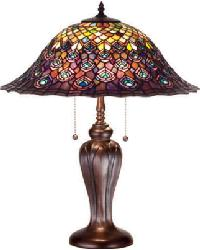 Tiffany Peacock Feather Table Lamp by