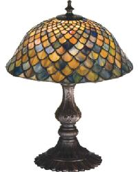 Tiffany Fishscale Accent Lamp by