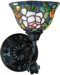 Tiffany Rosebush Wall Sconce by