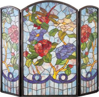 Meyda Tiffany Dragonfly Flower Folding Fireplace Screen  Search Results