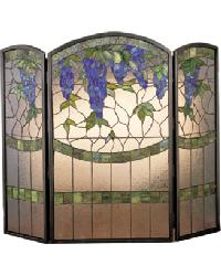 Wisteria Folding Fireplace Screen by