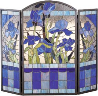 Meyda Tiffany Iris Folding Fireplace Screen  Search Results