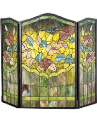 Butterfly Folding Fireplace Screen by