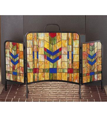 Meyda Tiffany Prairie Wheat Folding Fireplace Screen Orange Lt Blue Flame 59r Search Results