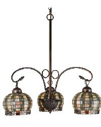 Jeweled Basket 3 Light Chandelier by