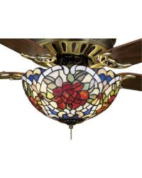 Renaissance Rose Fan Light by