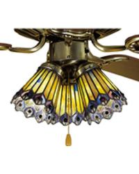 Jeweled Peacock Fan Light by