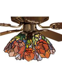 Orange Iris Fan Light by