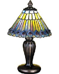 Jeweled Peacock Mini Lamp by