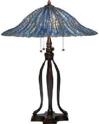 Tiffany Lotus Leaf Table Lamp by