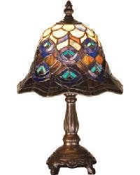 Peacock Feather Accent Lamp by