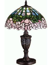 Cabbage Rose Accent Lamp by