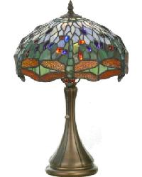Tiffany Hanginghead Dragonfly Accent Lamp by