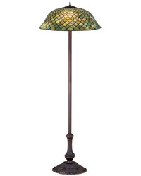 63in H Tiffany Fishscale Floor Lamp by