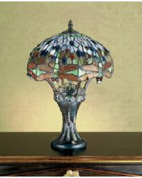 Tiffany Hanginghead Dragonfly Mosaic Base Accent Lamp by