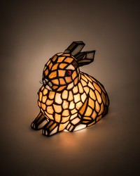 7in H Tiffany Rabbit Honey Accent Lamp by