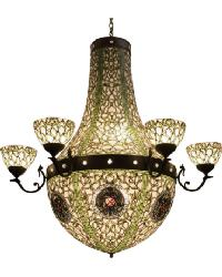 Grand Tulip Medallion 6 Arm Chandelier by