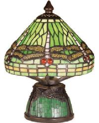 Mosaic Dragonfly Mini Lamp by