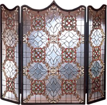 Meyda Tiffany Victorian Beveled Folding Fireplace Screen  Search Results