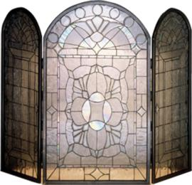Meyda Tiffany Beveled Glass Clear Folding Fireplace Screen  Search Results