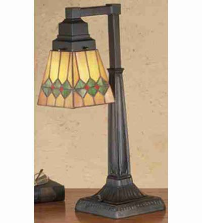 Meyda Tiffany Martini Mission Desk Lamp  Arts and Crafts