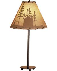 Cabin In The Woods Painted Accent Lamp by