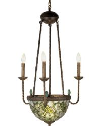 Lotus Bud 3 Arm Inverted Chandelier by