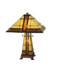 Sierra Prairie Mission Lit Base Table Lamp by