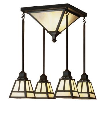 Meyda Tiffany T Mission Semi-flush Pendant  Outdoor Lighting