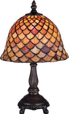 Meyda Tiffany Tiffany Fishscale Mini Lamp  Small Tiffany Accent Light