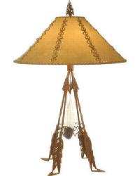 Arrowhead and Feather Table Lamp by
