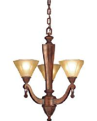 Oakland 3 Lt Chandelier by