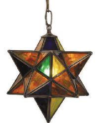 Moravian Star Pendant by