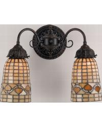 Tiffany Acorn 2 Lt Wall Sconce by