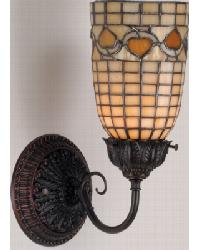 Tiffany Acorn Wall Sconce by