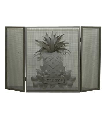 Meyda Tiffany Welcome Pineapple Folding Fireplace Screen  Search Results