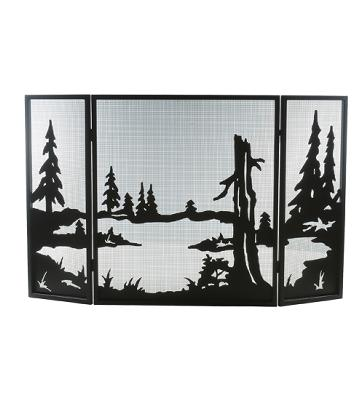 Meyda Tiffany Quiet Pond Folding Fireplace Screen Black Mesh Search Results