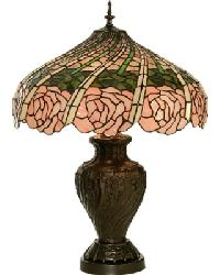 Rose Swirl Table Lamp by