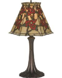 Oriental Peony Accent Lamp by