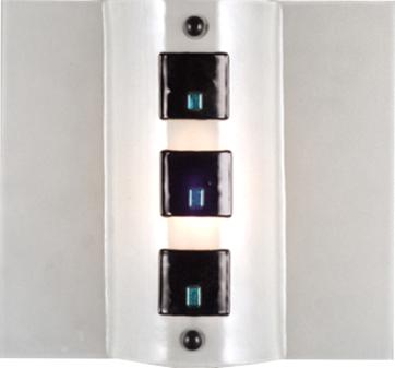 Meyda Tiffany Black Tie Affair Fused Glass Sconce Clear/Black Square/Dicro Wall Sconces