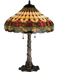 Colonial Tulip Table Lamp by