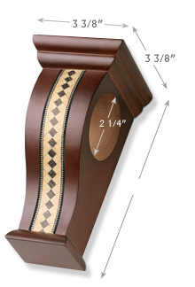 Graber Inlaid Wood Bracket Shown in Mahogany Search Results