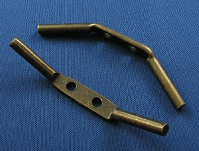 Graber Metal Cord Cleats (1/env.) Antique Brass Tie Backs