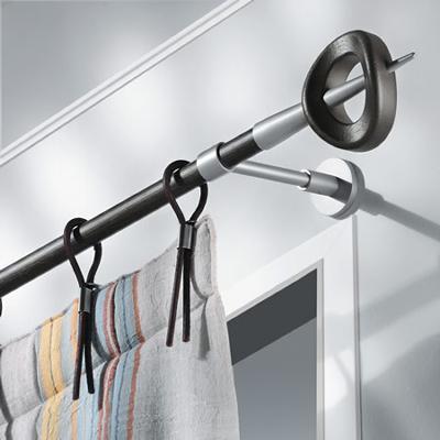 Casa Valentina Zeudi Matte Aluminum Finial Set  Modern Curtain Rods