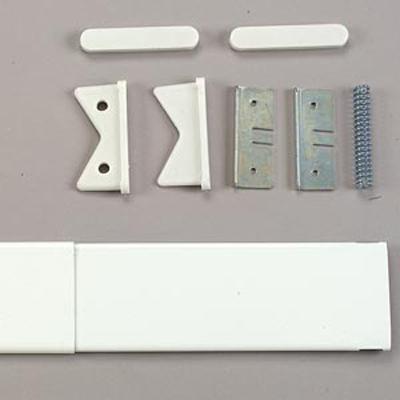 Kirsch Continental Shower Rod White Shower Curtain Rods
