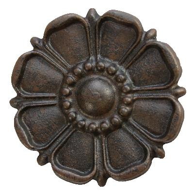 Ona Drapery Hardware Sun Flower Rosette Shown in Antique Search Results