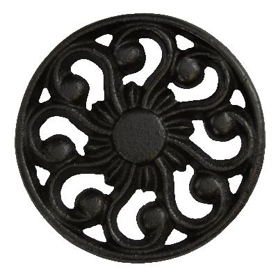 Ona Drapery Hardware Sun Rosette Shown in Black Search Results