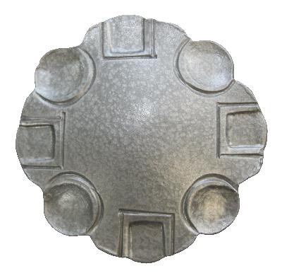 Ona Drapery Hardware Villa Rosette Hammered Silver Search Results
