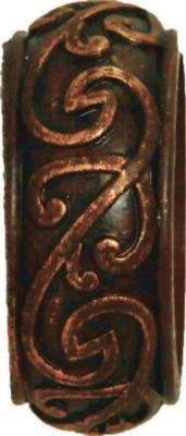 Finestra Iron Scroll End Cap Shown in Old World Gold Search Results