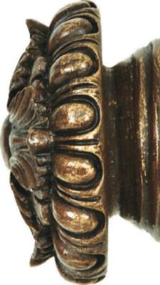 Finestra Stella Finial Shown in Old World Gold Search Results